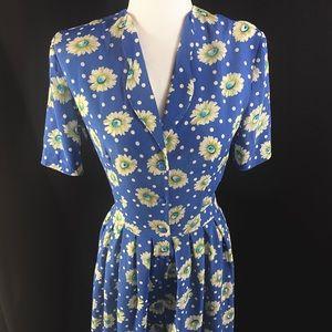 80s maxi daisy day dress